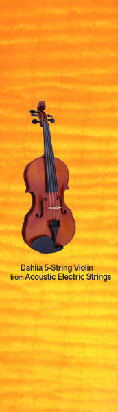 Dahlia 5 String Violin from Acoustic Electric Strings