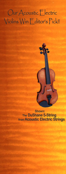 4 & 5 String Amplified Violins from AcousticElectricStrings.com